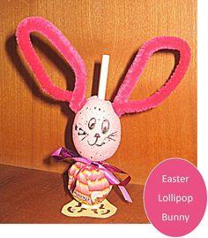 DIY Easter : DIY Easter Craft: Lollipop Bunnies
