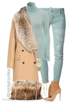 Mint Winter by highfashionfiles on Polyvore featuring мода, MSGM, Dsquared2, Christian Louboutin, Marc by Marc Jacobs, Jennifer Meyer Jewelry, women's clothing, women's fashion, women and female