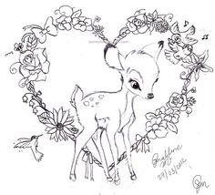 bambi tattoo - Google Search