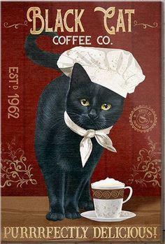 Crazy Cat Lady, Crazy Cats, Black Cat Art, Black Cats, Cat Signs, Cat Posters, Tier Fotos, All About Cats, Cat Drawing