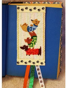 A machine embroidered bookmark Be True Crafts