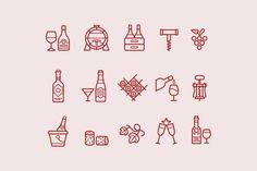 15 Wine Icons