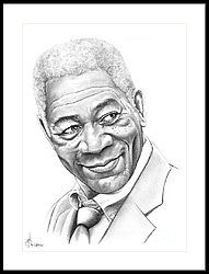 Morgan Freeman Framed Print by Murphy Elliott
