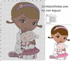 Doc McStuffins children free cross stitch pattern