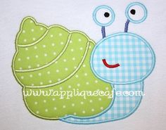 Sea Snail Applique Design