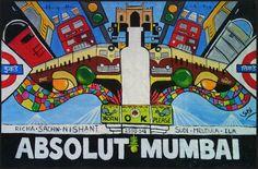 Absolut Mumbai - wall art by @Sudarshan Sudevan