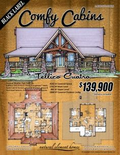 Northridge iii log home and log cabin floor plan want for 1 bedroom log cabin kits