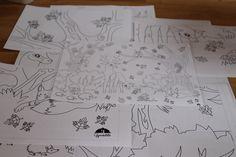 Őszi óriás színező - 9 lapból áll majd össze a csendélet :)