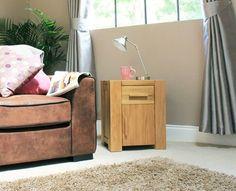 Atlas Door Drawer Lamp Table / Bedside Cabinet - CMR10B