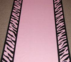 Zebra border on a Perfection Pink runner by The Original Runner Co.  www.originalrunners.com