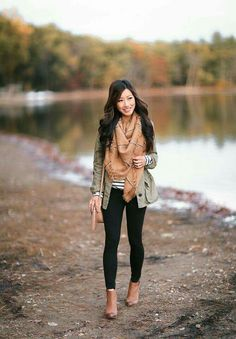 Fall layering MVP: the olive green utility jacket - Extra Petite - - Vince Camuto leggings xxsp (hemmed BP striped tunic tee xxs colors), BP booties sz Gap jacket (old, very similar ), G… Source by waysify Komplette Outfits, Casual Fall Outfits, Fall Winter Outfits, Autumn Winter Fashion, Fashion Outfits, Fashion Ideas, Workwear Fashion, Mens Winter, Fashion Blogs