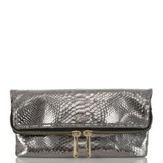 the perfect night-out companion. #Brahmin #Atelier Hingham clutch in gunmetal
