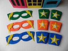 Superhero Masks and Wrist Cuffs  20 Set Birthday Party by BabyDear, $120.00