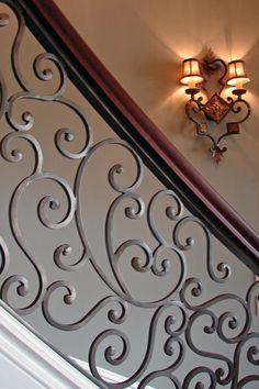 Perhaps we can match the stair pattern to the front door - ELEGANT IRON STUDIOS