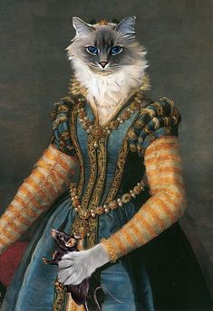 Isabella de' Medici- Custom Renaissance Pet/Dog/Cat Portrait - Digital personalized pet portrait painting using your Photo