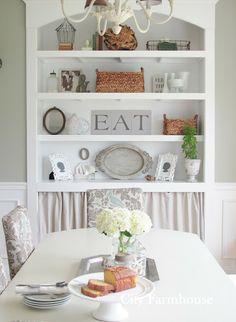 built in shelf in diningroom - Google Search