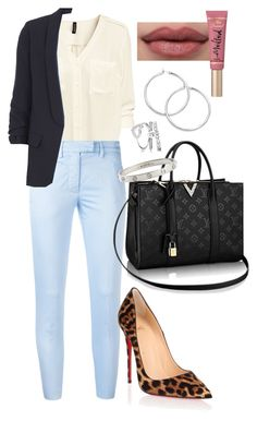 """Untitled #507"" by dreamer3108 ❤ liked on Polyvore featuring H&M, Dondup, Christian Louboutin, Dorothy Perkins, Too Faced Cosmetics and Cartier"