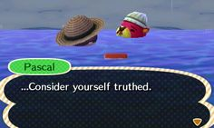 Animal Crossing: New Leaf Diary, Day 10: Got my own wetsuit yesterday and was diving off the coast of my town when I found a scallop. Pascal showed up and asked for it and gave me a ship's compass in return.