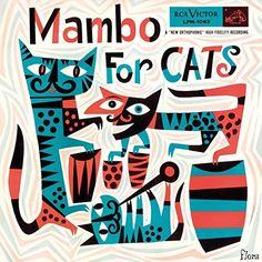 Mambo for Cats mit Perez Prado, Noro Morales, Tony Martinez, Al Romero, Don Elliot … bemerkenswerte Plattenhüllen – VinTageBuch