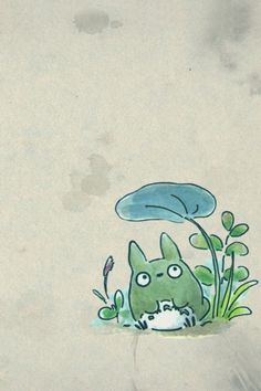 Totoro watercolor.