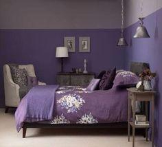 Room purple living room ideas purple and grey bedroom colors purple l Bedroom Colors, Purple Bedrooms, Bedroom Paint, Purple Bedroom Color Scheme, Grey Bedroom Colors, Bedroom Design, Bedroom Color Schemes, Cozy Room, White Furniture Living Room