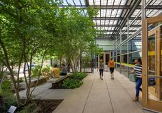 After ten years of leasing space in a corporate office building, the LIVESTRONG Foundation found its permanent home in the 1950s Gulf Coast Paper Co. Warehouse in East Austin, an underserved community in the process of revitalization. Lake|Flato's design for the renovated facility provides office space, meeting rooms, dining facilities, an in-house gymnasium, open-air courtyard, and parking for the staff of 62.