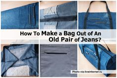 How To Make a Bag Out of An Old Pair of Jeans?