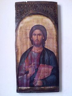Αναπαλαίωση εικόνας πάνω σε πολύ παλιό ξύλο.