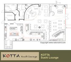 Restaurant Design Projects :: Restaurant Floor Plans