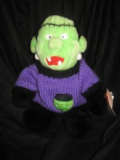 "A&A Plush People Pals FRANKENSTEIN Halloween Stuffed Animal 10"" NEW #AAPlush"