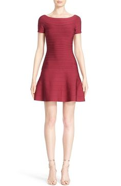 Herve Leger Flared Off Shoulder Bandage Dress $1,290.00  #BestReviews #newarrivals #Fashion