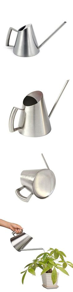 Watering Cans 20547: Mylifeunit Brushed Stainless Steel Watering Can, Modern Style Watering Pot, 36 1 -> BUY IT NOW ONLY: $41.85 on eBay!