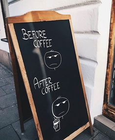 Before and after coffee, spotted in Krakow
