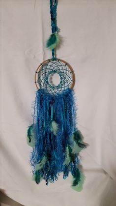 Teal & Blue Dreamcatcher by Elsie Rose Eclectic Restyle