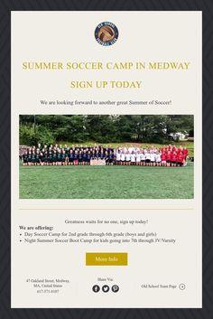 Summer SoccerCamp Soccer Boots, Girls Night, Camping, Sign, School, Summer, Vintage, Girls Night In, Campsite