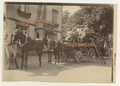 IOW Isle of Wight Prince Wales Hotel Pub Inn Stagecoach photograph Cowes Girls Holding Hands, Mount Board, Black Death, Isle Of Wight, Vintage Photographs, Paddle, Wales, Vintage Cars, Michigan