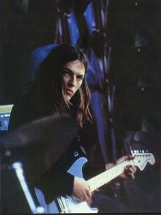 David Gilmour: Probably the original maple neck fretboard with the large Fender headstock. Now it's an earlier (maybe 1963) style neck with the small headstock. Since I think he bought this guitar in 1971, it might have had the '69 pickups of which he kept one.