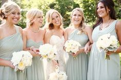 minty green convertible bridesmaid dresses (and link to read to keep them happy)