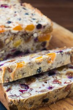 Gluten, sugar, and dairy free Paleo Fruit and Nut Bread --- this makes the most amazing toast!