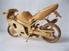 Ukrainian Artist Creates the Most Amazing Wooden Miniature Bikes ~ LikePage
