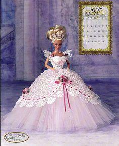 dress pattern for gibson girl doll | ... Master Crochet Series Miss February Crochet Pattern Book Annie Porter