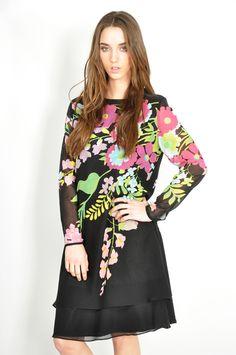 floral on black - thriftwares