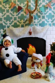 DIY FIREPLACE PROP , Kids Christmas Pictures, Christmas Photos, First Christmas | best stuff