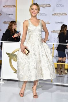 Pageant, Prints & Gold at The Hunger Games: Mockingjay Premiere