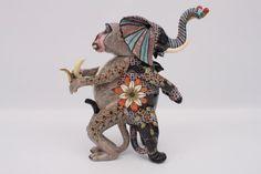 Ardmore Elephant & Monkey Tureen