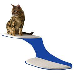 Refined Feline Cat Clouds Cat Shelf - Blue - CLOUD-BL-L