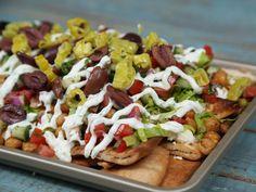Loaded Greek Salad Nachos Recipe | MyRecipes