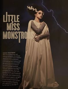 All the girly things bride of frankenstein hair how to tutorial amazing bride of frankenstein diy costume by martha stewart living solutioingenieria Gallery