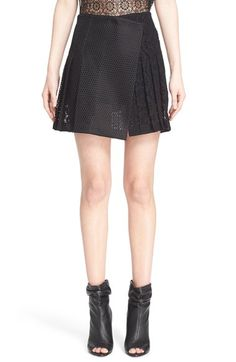 BURBERRY PRORSUM Mesh & Lace Skirt. #burberryprorsum #cloth #