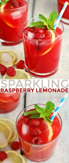 This Sparkling Raspberry Lemonade is a fresh twist on that classic summer drink and a perfect addition to any summer party.